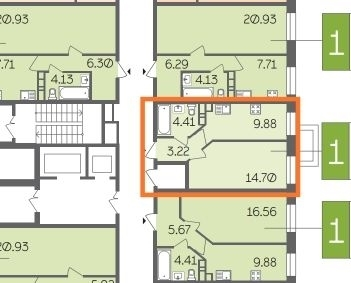 Продается 1-комнатная квартира в новом ЖК Истомкино Парк 2.